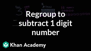 Sal subtracts 35-8.Watch the next lesson: https://www.khanacademy.org/math/cc-2nd-grade-math/cc-2nd-add-subtract-100/cc-2nd-math-strategies-for-adding-within-100/v/addition-using-groups-of-10-intro?utm_source=YT&utm_medium=Desc&utm_campaign=2ndgradeMissed the previous lesson? https://www.khanacademy.org/math/cc-2nd-grade-math/cc-2nd-add-subtract-100/cc-2nd-sub-two-dig-intro/v/subtracting-two-digit-numbers-without-regrouping?utm_source=YT&utm_medium=Desc&utm_campaign=2ndgrade2nd grade on Khan Academy: Learn to see three-digit numbers as hundreds, tens, and onesAbout Khan Academy: Khan Academy is a nonprofit with a mission to provide a free, world-class education for anyone, anywhere. We believe learners of all ages should have unlimited access to free educational content they can master at their own pace. We use intelligent software, deep data analytics and intuitive user interfaces to help students and teachers around the world. Our resources cover preschool through early college education, including math, biology, chemistry, physics, economics, finance, history, grammar and more. We offer free personalized SAT test prep in partnership with the test developer, the College Board. Khan Academy has been translated into dozens of languages, and 100 million people use our platform worldwide every year. For more information, visit www.khanacademy.org, join us on Facebook or follow us on Twitter at @khanacademy. And remember, you can learn anything.  For free. For everyone. Forever. #YouCanLearnAnythingSubscribe to Khan Academy's 2nd grade channel: https://www.youtube.com/channel/UCNKAFuuw3dpsiSl9n90zgvw?guided_help_flow=3?sub_confirmation=1Subscribe to Khan Academy: https://www.youtube.com/subscription_center?add_user=khanacademy