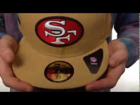 49ers 'SUPER BOWL XIX' Gold Fitted Hat by New Era