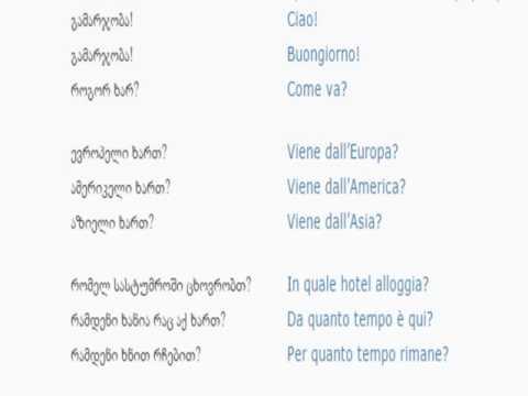 იტალიურის გაკვეთილი 3 (გაცნობა)/Italian Lesson 3/Итальянский язык Урок 3