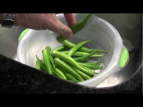 Quiabo sem baba - How to Keep Okra from Getting Slimy
