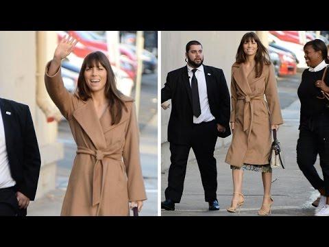 Jessica Biel Looking Elegant For Jimmy Kimmel Live Appearance