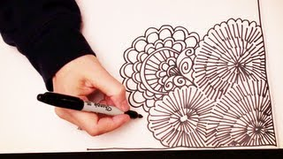 ASMR Doodling (Quality sound, ASMR drawn in real time, Doodling, Zentangle, No Speaking) - YouTube