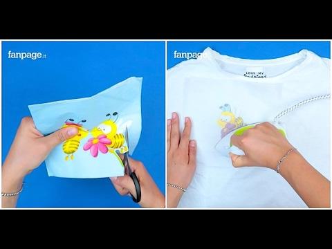 Mette un tovagliolo sulla maglietta e passa il ferro da stiro: il trucchetto geniale