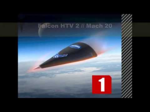 1. Falcon HTV2 2. NASA X43-A 3....
