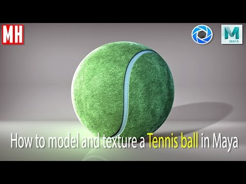 Maya Tutorial : Model And Texture A Tennis Ball In 3D ( Full Tutorial )