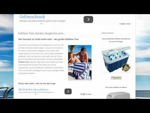 Nischenseiten-Analyse Video #02 - kuehlbox-test.de