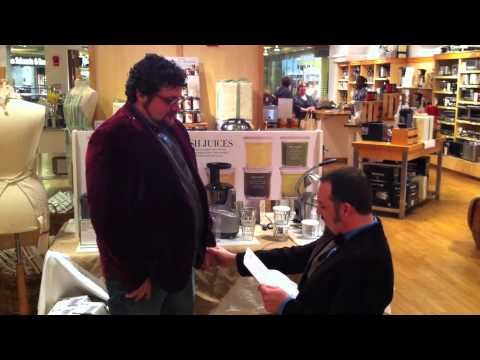 A proposal at a Beekman 1802 Heirloom Cookbook Signing