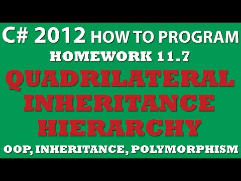 C# Programming Challenge 11.7: Quadrilateral Inheritance Hierarchy (C# OOP Principles, C# Struct)