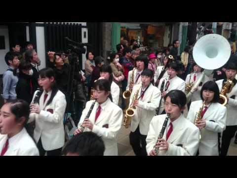 福井県鯖江市鯖江中学校吹奏楽部 京都さくらパレード2015