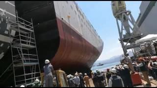 Una nuova nave sta prendendo forma Niew Statendam il varo del primo troncone a Palermo.
