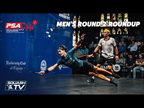 Squash: PSA World Championships 2020-21 - Men's Rd 2 Roundup