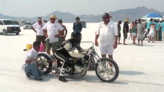 2. Double Vision Dual Engine Triumph Off the Line at Bonneville Speed Week 2012