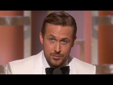Ryan Gosling Dedicates Golden Globe Win to Eva Mendes in Touching Speech-- Watch! (видео)