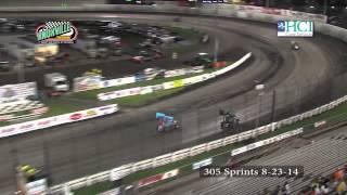 Knoxville Raceway 305 Sprints 8-23-14