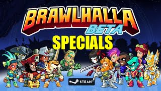 """All specials for all characters!FREE Closed Beta sign ups at www.brawlhalla.com! A 2D platform fighter where the best of the baddest-ass warriors in history battle each other in an eternal tourney of champions for bragging rights, infinite mead, and the pure pleasure of delivering a beatdown.Songs used:Five Armies - ISRC: US-UAN-11-00875 """"Five Armies Kevin MacLeod (incompetech.com) Licensed under Creative Commons """"Attribution 3.0"""" http://creativecommons.org/licenses/by/3.0/""""Movement Proposition:http://incompetech.com/music/royalty-free/index.html?keywords=Movement+Proposition&Search=Search"""
