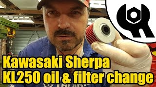 4. #1821 - Kawasaki Sherpa KL250 engine oil & filter change