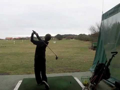 Junior Golfer Harry tries US KIDS Golf Clubs
