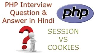 """PHP Interview Question and Answers in Hindi What is Difference between Session and CookiesSession vs Cookies 1 Sessions are server-side files that contain user information Cookies are client-side files that contain user information2 In php $_SESSION super global variable is used to manage session.In php $_COOKIE super global variable is used to manage cookie.3 Before using $_SESSION, you have to write session_start();You don't need to start Cookie as it is stored in your local machine.4 You can store as much data as you like within in sessions. Official MAX Cookie size is 4KB.5 session_destroy(); is used to """"Destroys all data registered to a session"""". There is no such function.6 Session ends when user closes his browser.Cookie ends depends on the life time you set for it."""