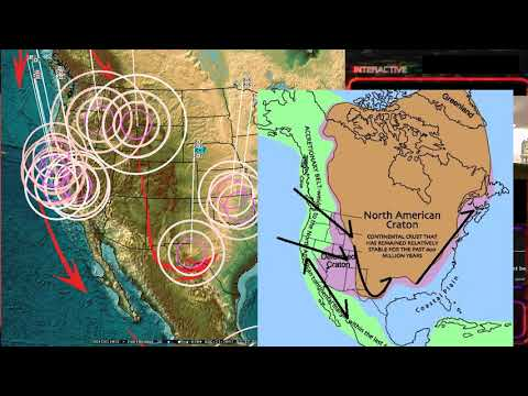 8/20/2017 -- Global Earthquake Update -- West Coast USA Plate moving -- Slow slip stopping? (видео)