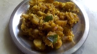 Valaikai poriyal or raw banana poriyal