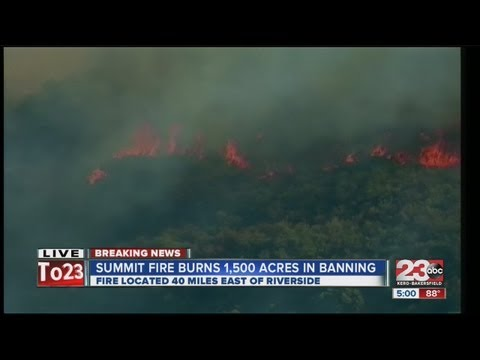 banning - The fire started at about 12:30 p.m. in Riverside County.