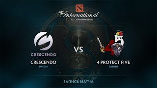 Crescendo vs 4 protect Five, The International 2017 EU Qualifier