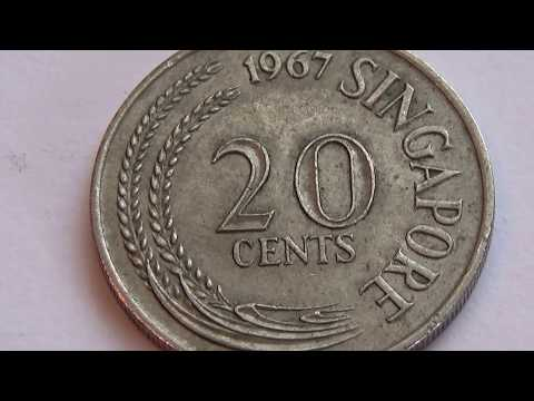 A 1967 Singapore 20 Cents Coin