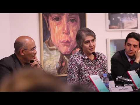 José Tolentino, Teresa Forcades i Sebastià Serrano van presentar 'Vers una espiritualitat dels sentits' a Barcelona