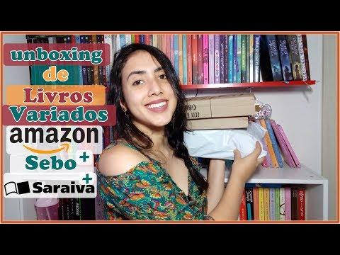 UNBOXING   Livros Variados   Sebo+ Saraiva + Amazon   Leticia Ferfer   Livro Livro Meu
