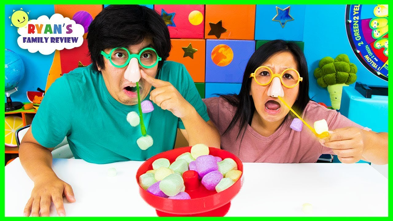 GOOEY Booger Board Game with Ryan's Family!!!!! - YouTube