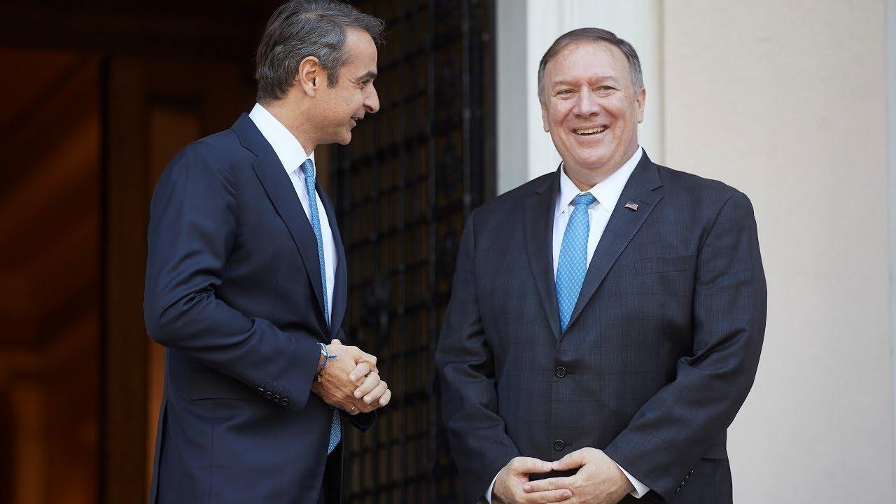 Συνάντηση του Πρωθυπουργού Κυριάκου Μητσοτάκη με τον ΥΠΕΞ των ΗΠΑ Michael R. Pompeo