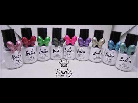 Gel nails - Nail gel polish  BELEN  3D Glitter Platinum