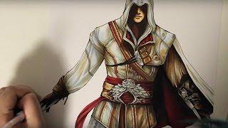 Видео: как нарисовать реалистичного Ezio
