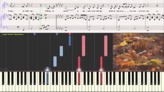 Гвердцители - Листопад (Ноты для фортепиано) (piano cover)