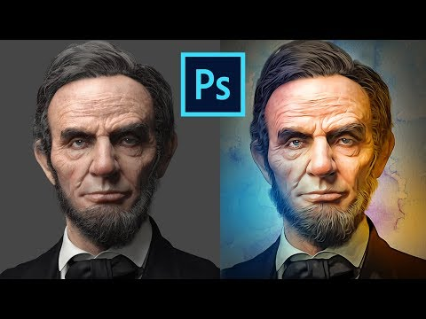 How To Create Oil Painting Cartoon Effect Tutorial, CC 2017, Oil Painting, Photoshop 2017, Oil Paint
