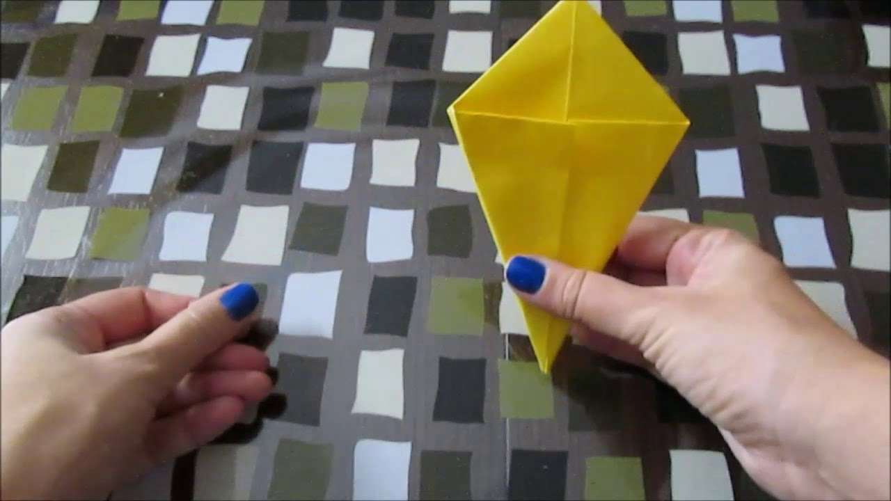L'uccello che sbatte le ali. Origami