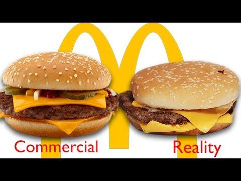 McDonald's - reklama vs. realita