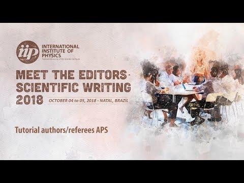 Tutorial authors/referees APS