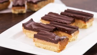 Homemade Twix Bars Recipe by Home Cooking Adventure