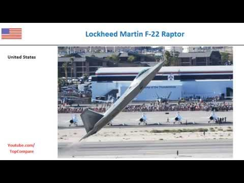Lockheed Martin F-22 Raptor compared...