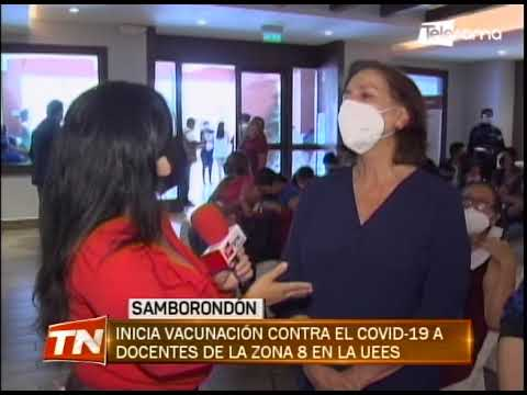Inician vacunación contra el covid-19 a docentes de la zona 8 en la UEES