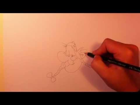 Obelix zeichnen lernen / Obelix malen – Anleitung