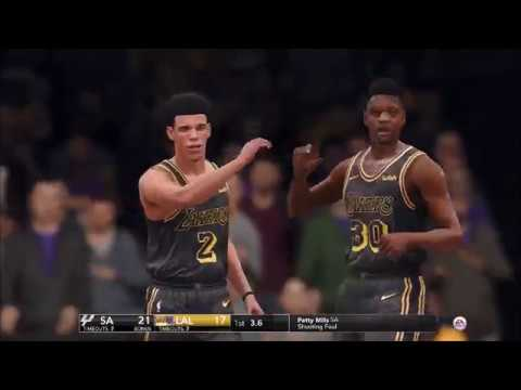 NBA Live 18 San Antonio Spurs vs Los Angeles Lakers Full Game
