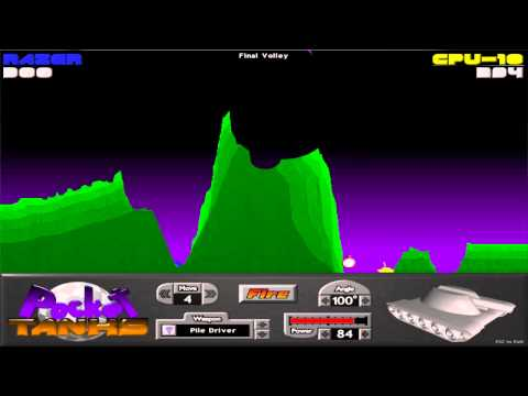 Pocket Tanks Deluxe Gameplay