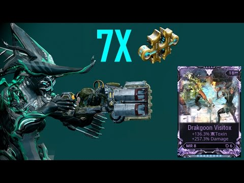 7 Forma Riven mod Drakgoon [Multishot & Cold/Damage & Toxin]