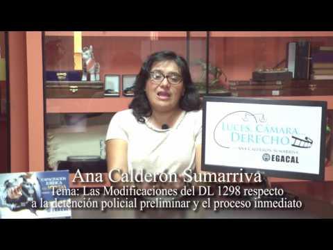 Programa 06 - Las Modificaciones del DL 1298 - Luces Cámara Derecho - EGACAL