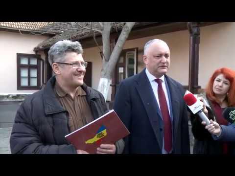 Глава государства посетил Дом-музей А.С. Пушкина в Кишиневе