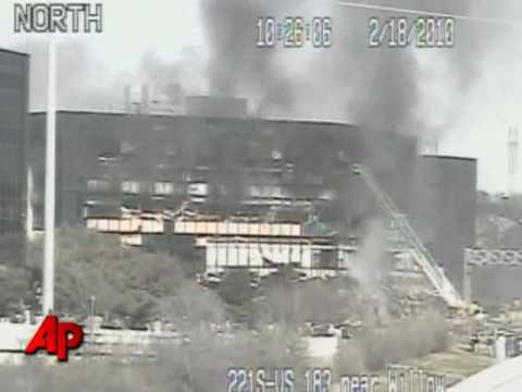 Raw Video: Small Plane Crashes Into Texas Bldg