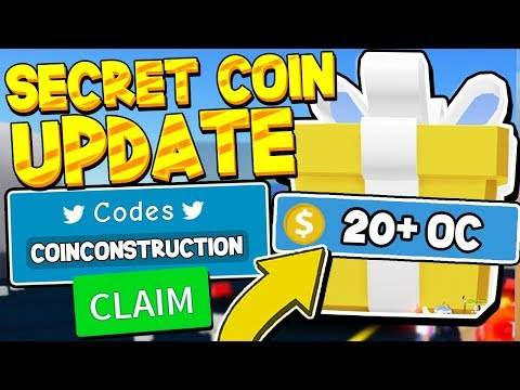 SECRET CONSTRUCTION UPDATE COIN CODES IN UNBOXING SIMULATOR! Roblox *21 OC COINS!*