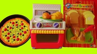 Featuring Play-Doh oven, velcro cutting slicing foods and other pretend foods. Baking breads and croissant, slicing bread, slicing ...